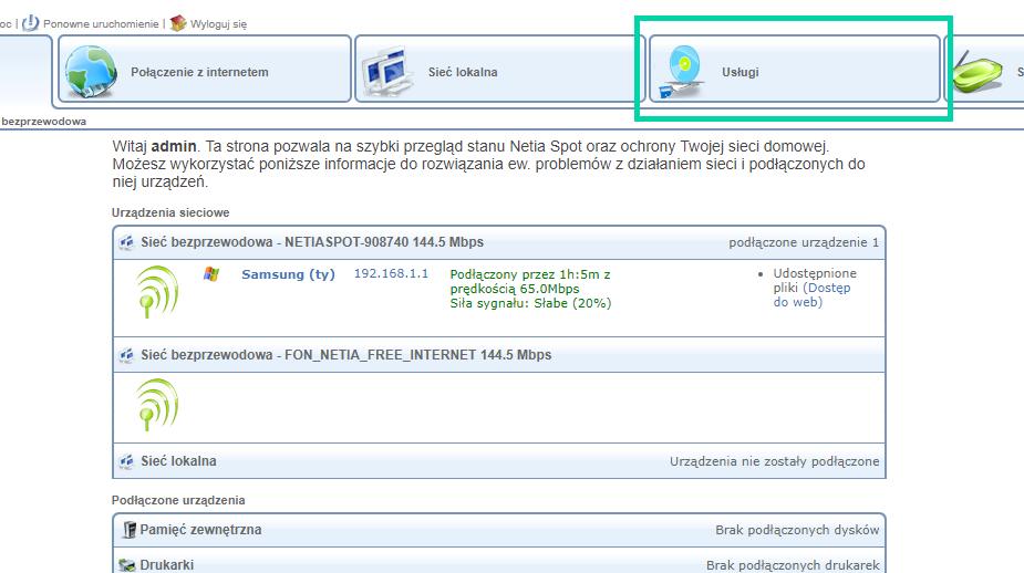 Podłączenie adresu IP